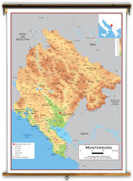 Physical Map Europe by Montenegro Physical Educational Wall Map From Academia Maps