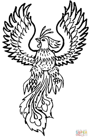 phoenix coloring page free printable coloring pages