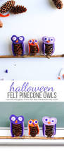 halloween felt pinecone owls see vanessa craft