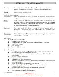 Sample Resume For Office Administrator by It Manager Job Description Business Planning Manager Job
