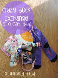 crazy sock exchange 10 gift idea crazy socks frugal and