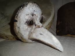 halloween paper mache masks plague doctor mask paper mask crow mask raven mask