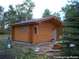 small log cabin plans little snowy plan 480 sq ft cowboy log homes