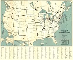 Us Regions Map Teaching Regions Of The United States And Canada 1940
