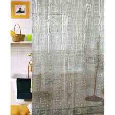 Shower Curtain Vinyl - carnation home fashions vinyl geo 3d shower curtain u0026 reviews