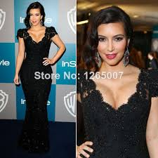 com buy kim kardashian v neck short sleeves lace sequins beaded