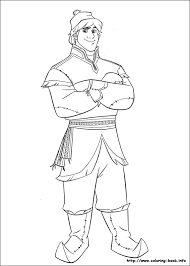 frozen kristoff coloring pages getcoloringpages