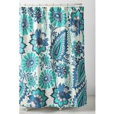 Paisley Shower Curtains Tropical Paisley Shower Curtain Blue One Size By Urban