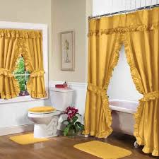 gold swag shower curtain w available window curtain