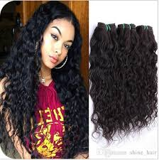 7a grade brazilian wet and wavy human hair wefts extensions water