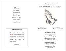 template for funeral service 12 free funeral brochure templates bates on design