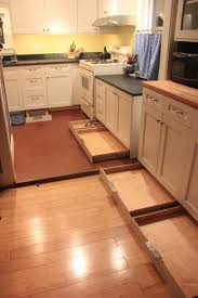 Kitchen Drawer Cabinets Toe Kick Drawers Awesome Idea For The Unused Space Under Your