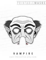 halloween mask printable masks vampire mask monster paper