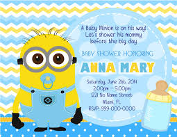 minion baby shower ideas minion baby shower invitations printable baby showers design
