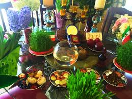 Iranian New Year Table Decoration by Celebrating Eideh Nowrouz The Persian New Year