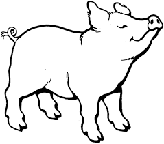 pink pig coloring page printable coloring pages coloring page of a
