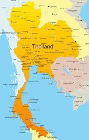 map of thailand map thailand