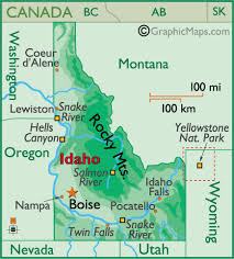 physical map of idaho idaho outline maps and map links