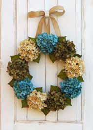 spring door wreaths hydrangea wreath front door wreath summer wreath summer