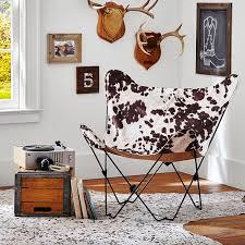 Faux Cowhide Junk Gypsy Faux Cowhide Butterfly Chair Pbteen