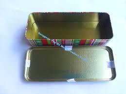 ribbon empty gift tins metal box cymk printing on lid