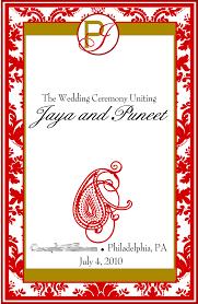 Wedding Program Covers Signatures By Sarah Wedding Program Covers And Favor Tags For Jaya