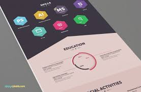 infographic resume u0026 cover letter creative psd resume templates