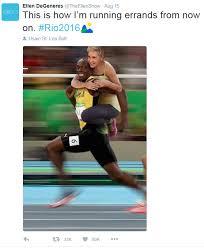 Ellen Degeneres Meme - ellen degeneres breaks silence following usain bolt racist meme