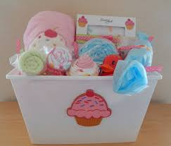 cupcake baby shower gift basket u2013 colorfulbows