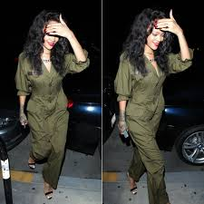 rihanna jumpsuit get the look rihanna in yohji yamamoto jumpsuit and manolo
