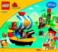 jake u0027s pirate ship bucky 10514 lego duplo jake building
