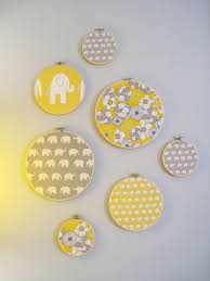 Diy Nursery Decor Pinterest by Fabric Circles And Elephants Nursery Ideas Pinterest