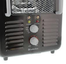 Comfort Zone Heater Fan Comfort Zone 1 500 Watt Portable Utility Milk House Heater With