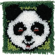 wonderart latch hook kit 8 x8 panda toys r us