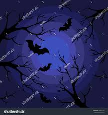 vector black branches on dark blue stock vector 488401729