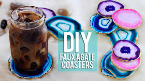 agate coasters diy faux agate coasters inspired