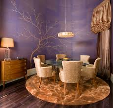 purple dining rooms with glass dining table dining room