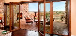 Wooden Bifold Patio Doors Wood Folding Patio Doors Design Ideas Decors Wonderful