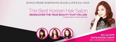 korean hair salons in manila bangs prime salon robinsons manila page home facebook