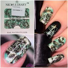 nail art nicole diary water decals review polish and paws