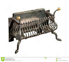 fireplace iron grate old antique stock photo image 58294596