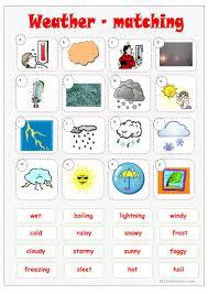 53 free esl weather worksheets for beginner pre a1 level high