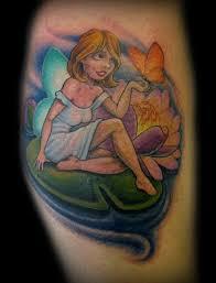 new school water tattoo tim senecal tattoos new school water lilly pixie