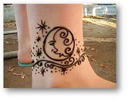 and moons ankle henna