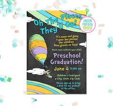 preschool graduation invitations oh the places you ll go graduation invitation printable