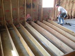 Laminate Flooring Uneven Subfloor How To Level A Sloping Sub Floor With Shims Home Pinterest