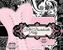 Lingerie Party Invitations Burlesque Invitation