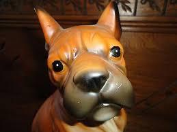 boxer dog statue kmart canada vintage 1960s 70s porcelain boxer dog statue figurine