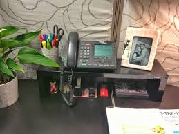 Office Space Organization Ideas Cubicle Organization Idea Use A Shelf To Maximize The Vertical