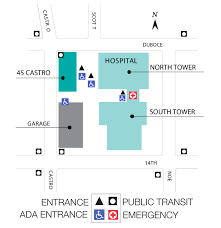 kaiser san jose facility map cpmc davies cus davies center